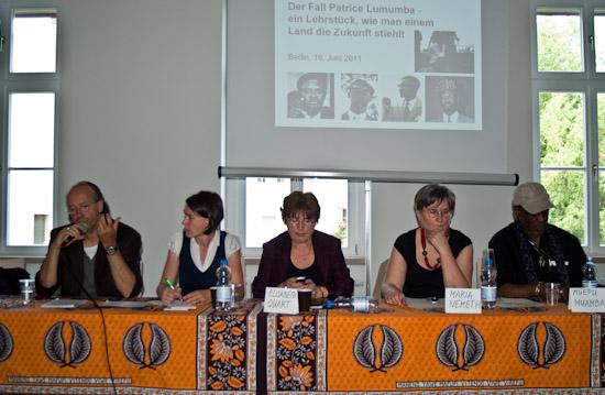 mit Ludo De Witte, Dr. Elisabeth Quart, Dr. Maria Németh und Muepu Muamba