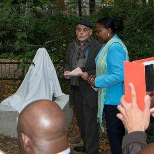 Einweihung der Lumuba-Skulptur in Berlin